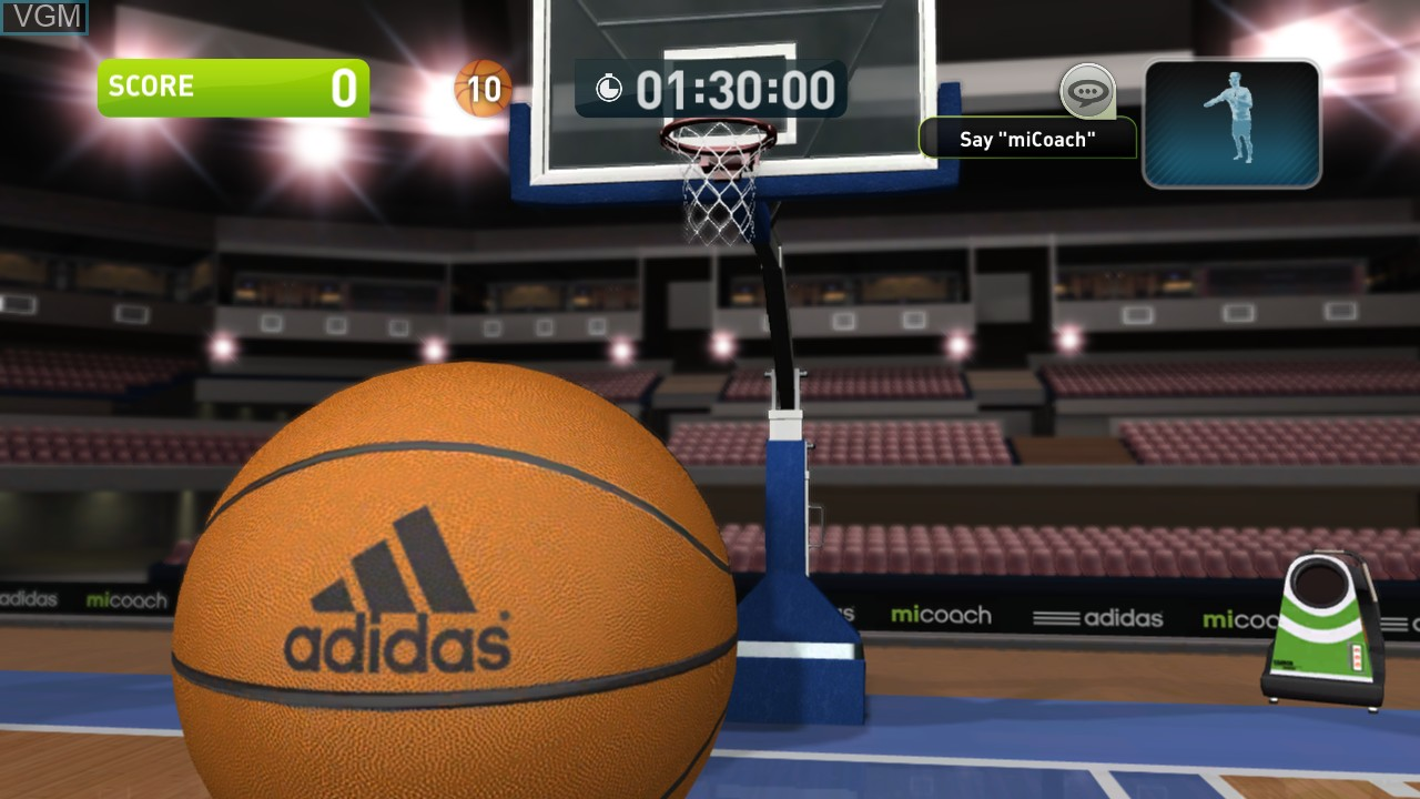 In-game screen of the game Adidas miCoach on Microsoft Xbox 360