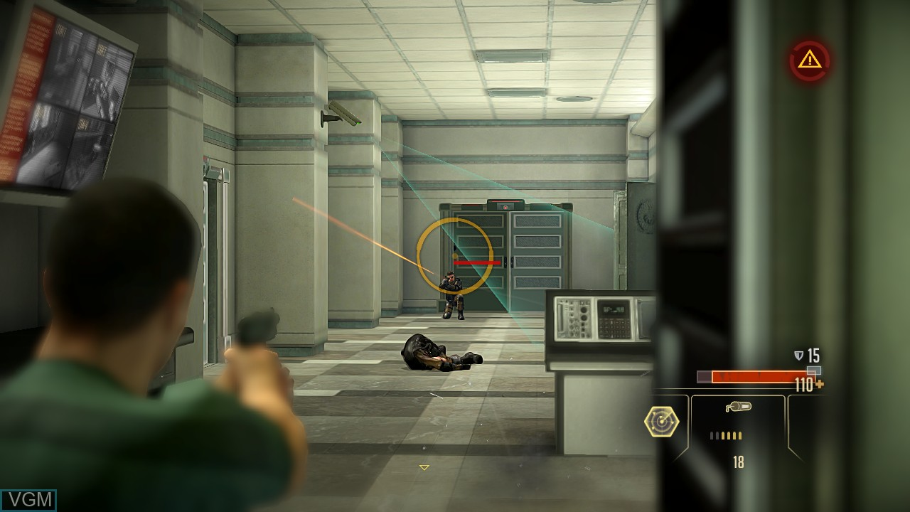 In-game screen of the game Alpha Protocol on Microsoft Xbox 360
