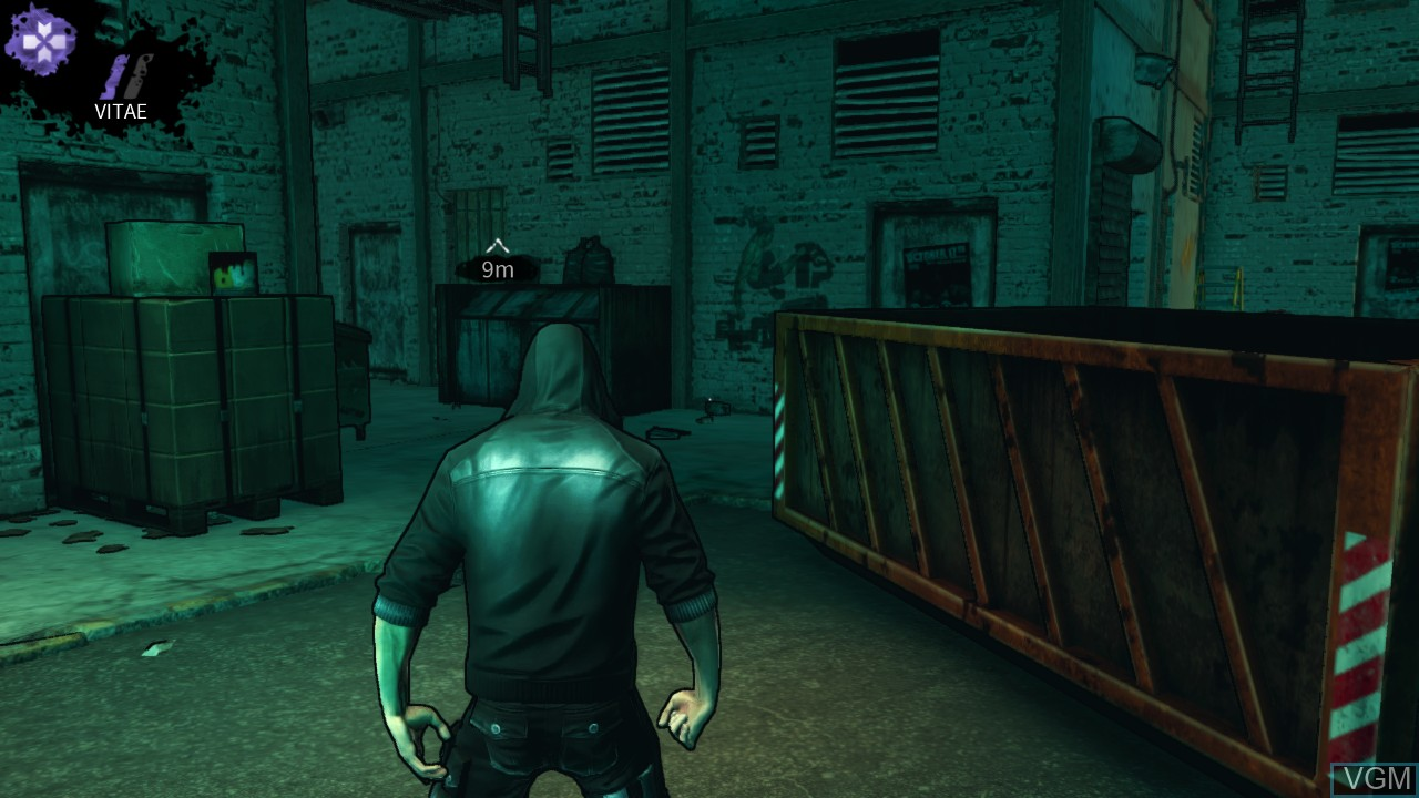 In-game screen of the game DARK on Microsoft Xbox 360