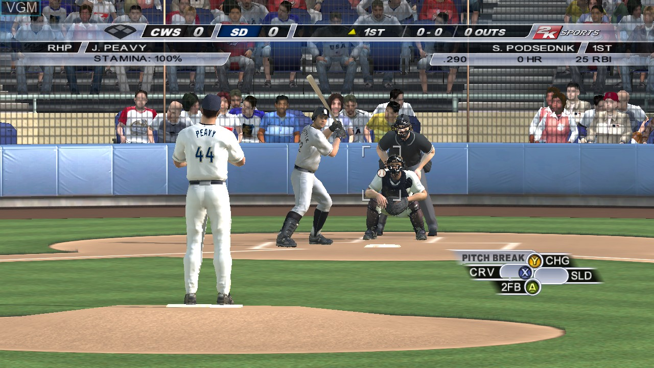 In-game screen of the game Major League Baseball 2K6 on Microsoft Xbox 360