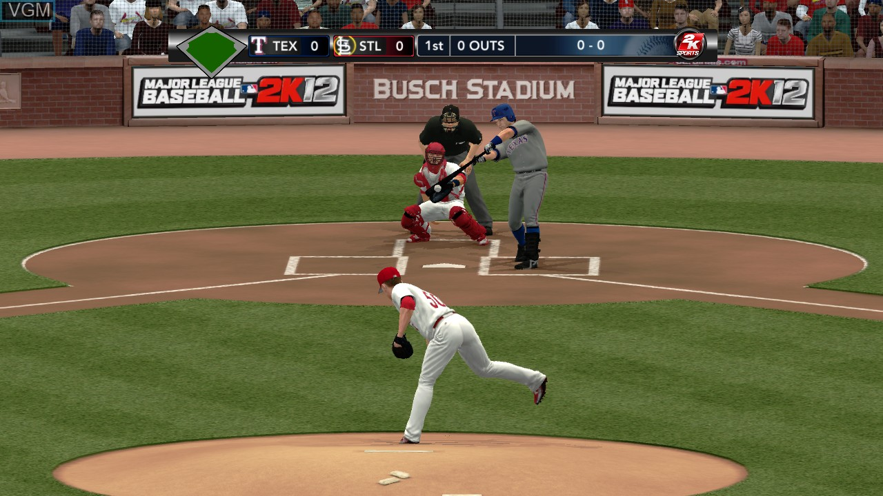 In-game screen of the game Major League Baseball 2K12 on Microsoft Xbox 360
