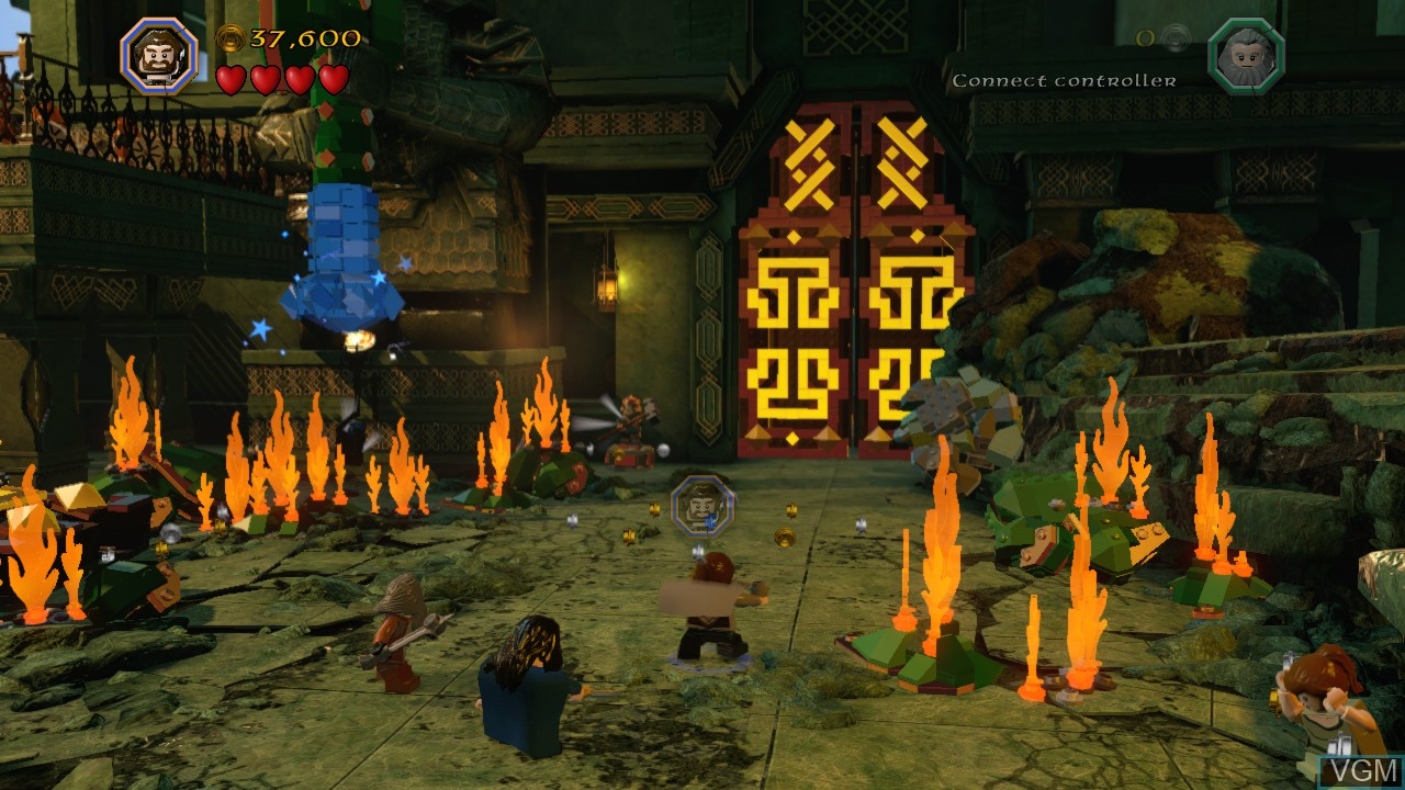 In-game screen of the game LEGO The Hobbit on Microsoft Xbox 360