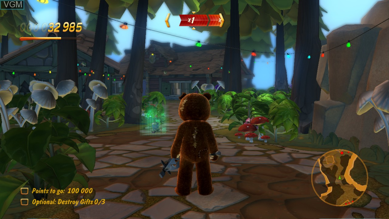 In-game screen of the game Naughty Bear on Microsoft Xbox 360