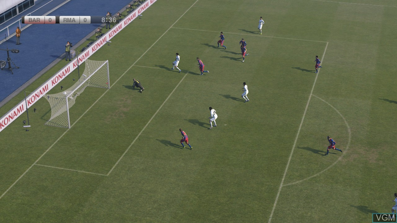 In-game screen of the game Pro Evolution Soccer 2011 on Microsoft Xbox 360