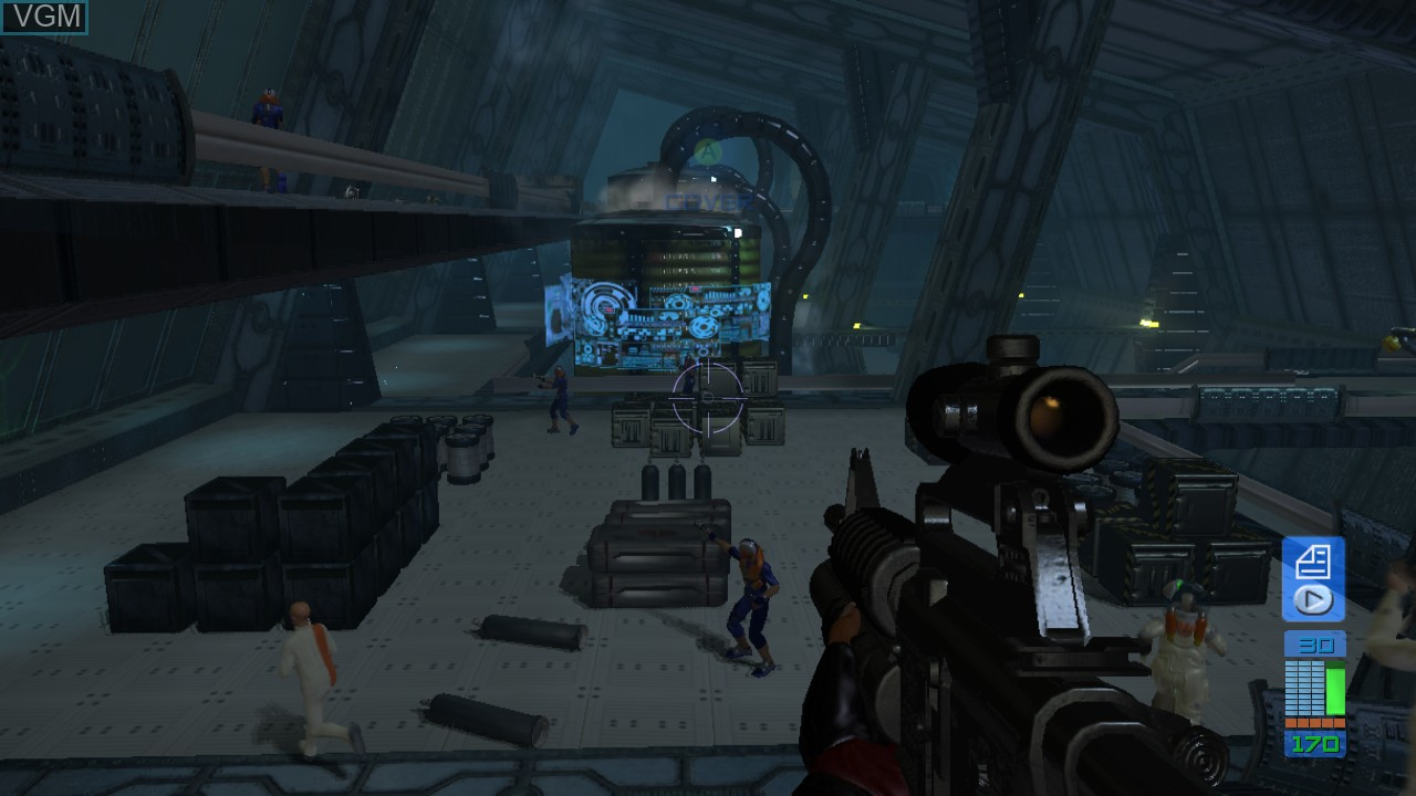 In-game screen of the game Perfect Dark Zero on Microsoft Xbox 360