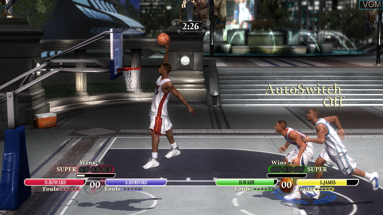 In-game screen of the game NBA Ballers - Chosen One on Microsoft Xbox 360