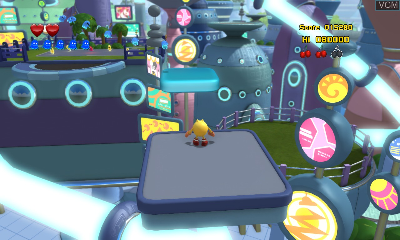 In-game screen of the game Pac-Man and the Ghostly Adventures 2 on Microsoft Xbox 360