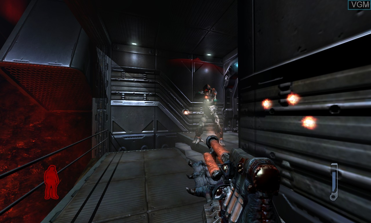 In-game screen of the game Prey on Microsoft Xbox 360