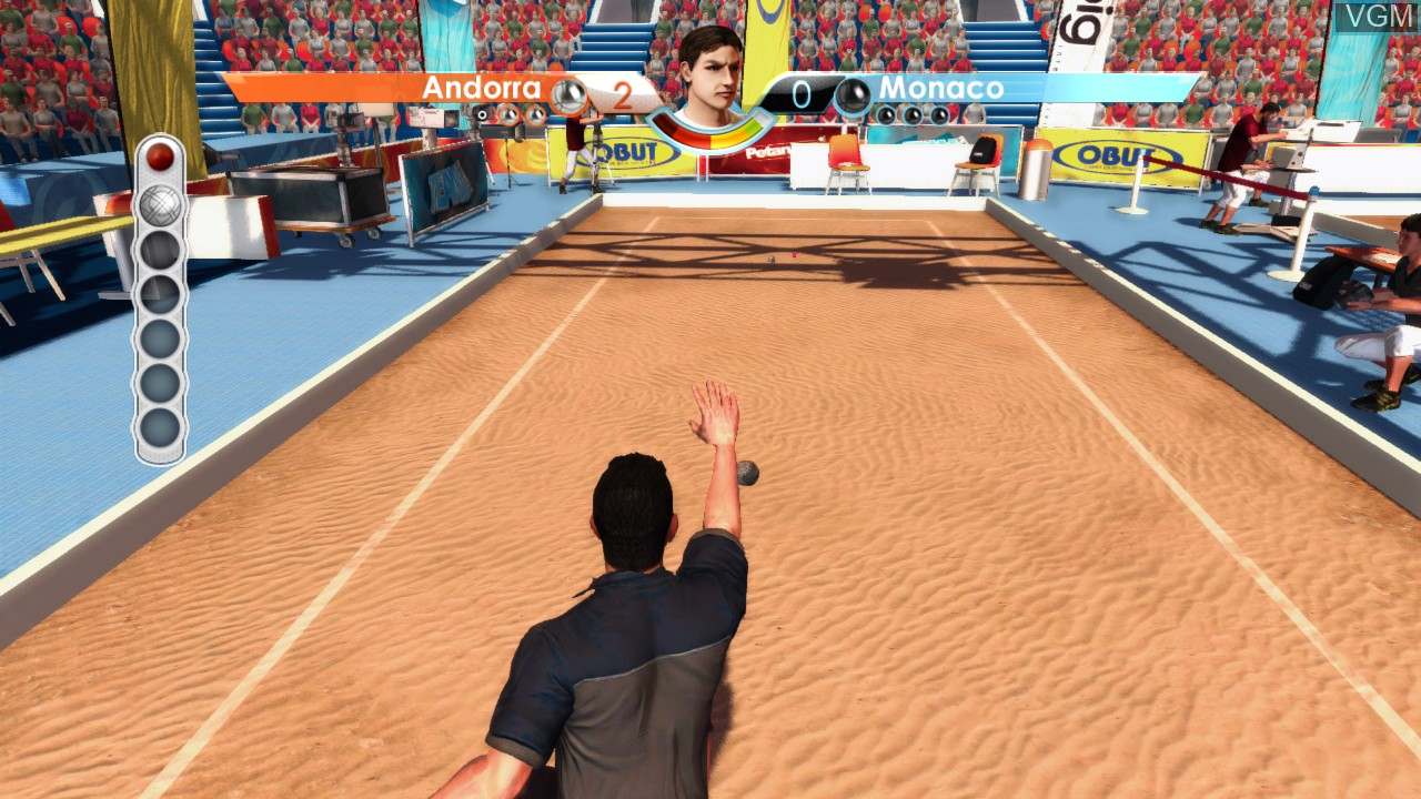 In-game screen of the game Obut Petanque 2 on Microsoft Xbox 360