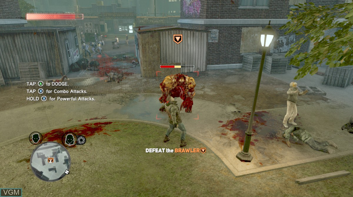 In-game screen of the game Prototype 2 on Microsoft Xbox 360
