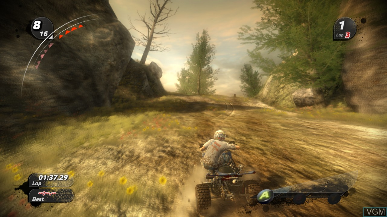 In-game screen of the game Pure on Microsoft Xbox 360