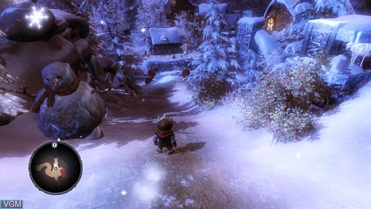 In-game screen of the game Overlord II on Microsoft Xbox 360