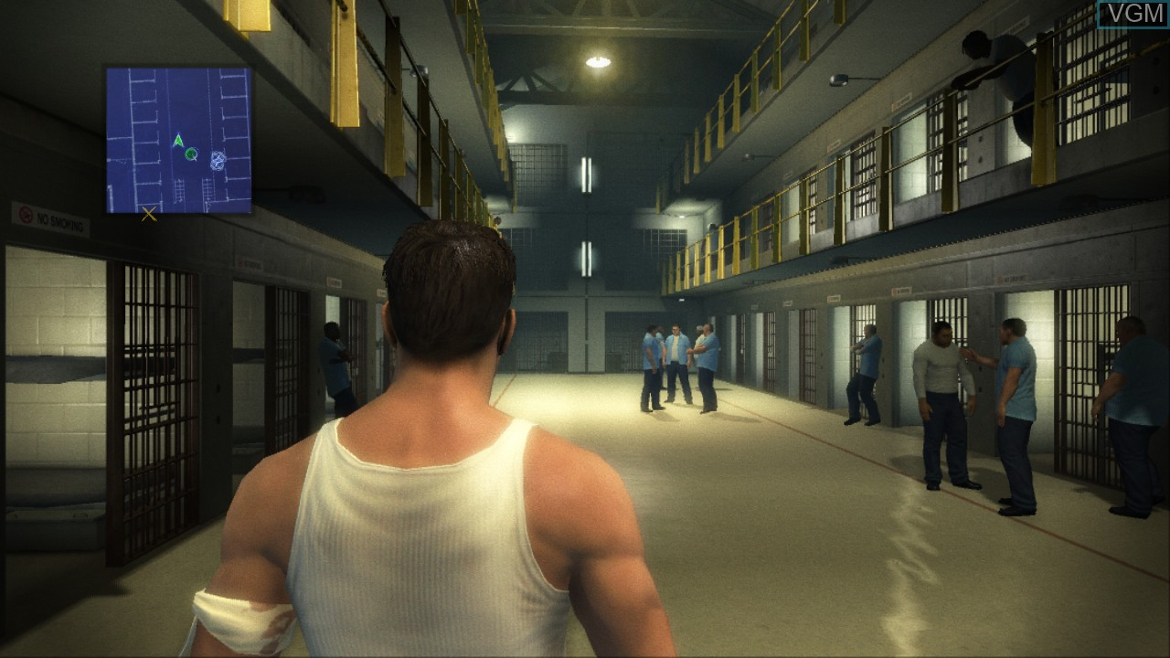 In-game screen of the game Prison Break - The Conspiracy on Microsoft Xbox 360