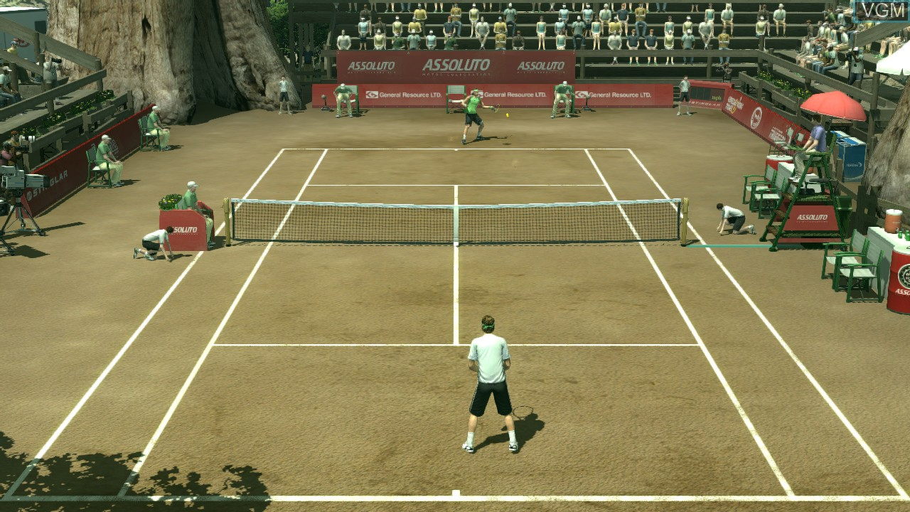 In-game screen of the game Smash Court Tennis 3 on Microsoft Xbox 360