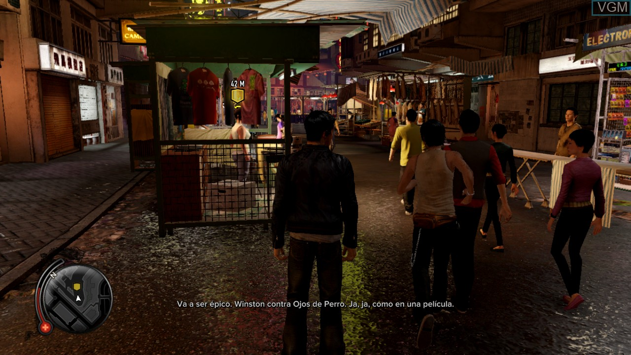 In-game screen of the game Sleeping Dogs on Microsoft Xbox 360