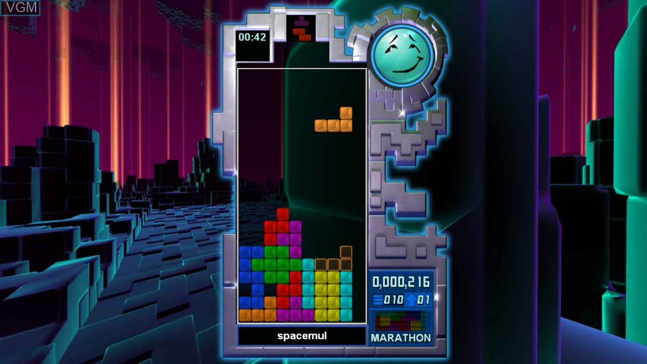 In-game screen of the game Tetris Evolution on Microsoft Xbox 360
