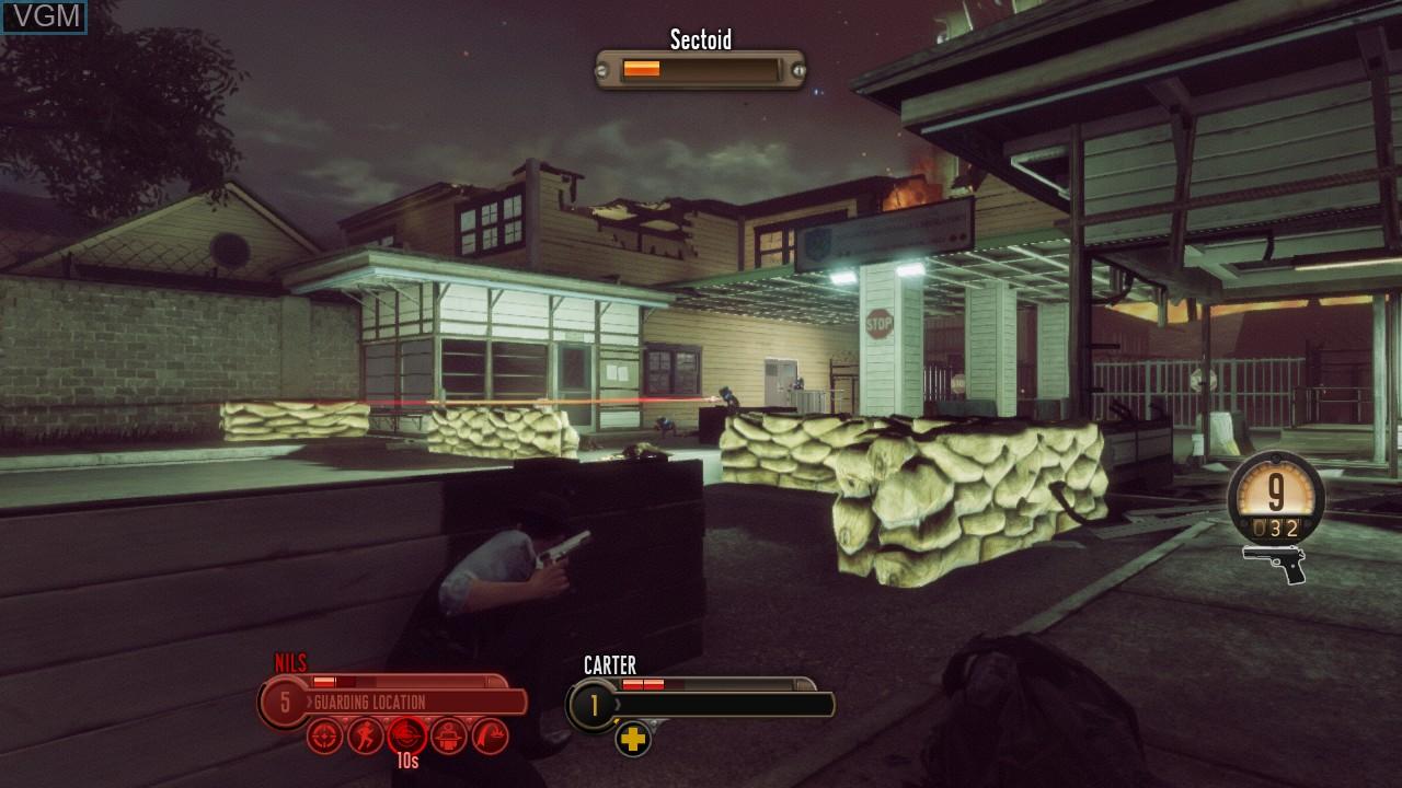 In-game screen of the game Bureau, The - XCOM Declassified on Microsoft Xbox 360
