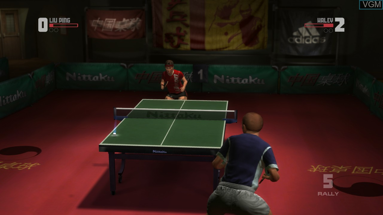 In-game screen of the game Rockstar Games presents Table Tennis on Microsoft Xbox 360