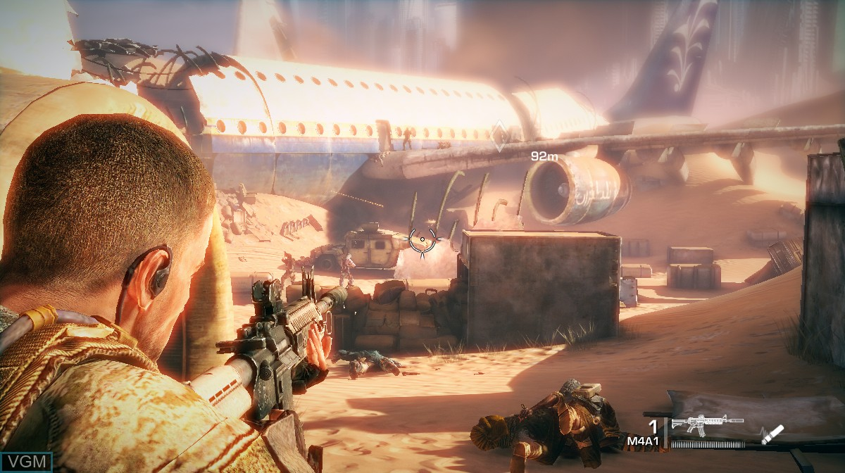 In-game screen of the game Spec Ops - The Line on Microsoft Xbox 360