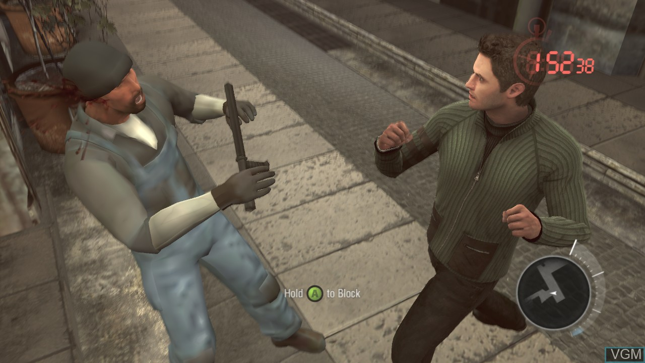 In-game screen of the game Bourne Conspiracy, The on Microsoft Xbox 360