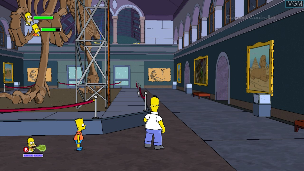 In-game screen of the game Simpsons Game, The on Microsoft Xbox 360