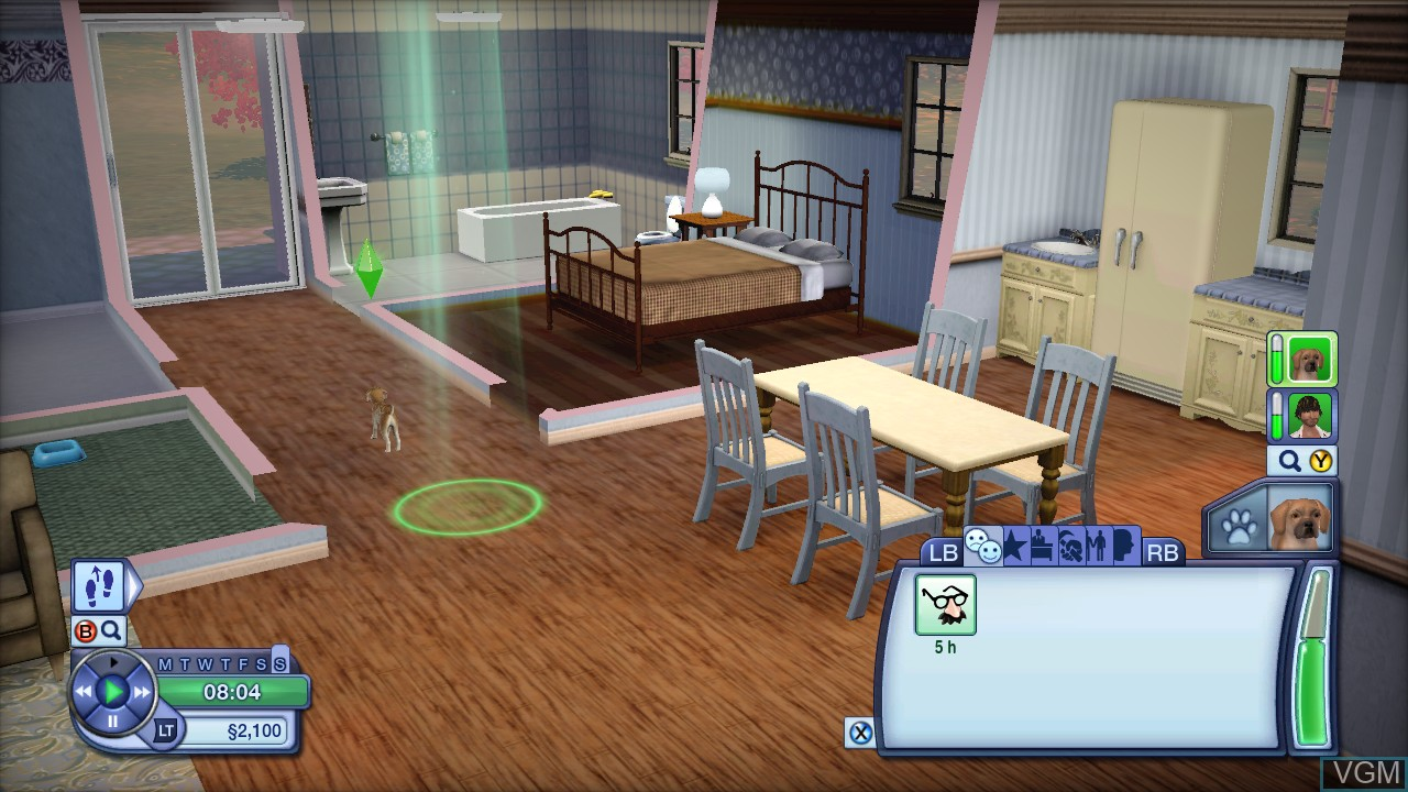 In-game screen of the game Sims 3, The - Pets on Microsoft Xbox 360