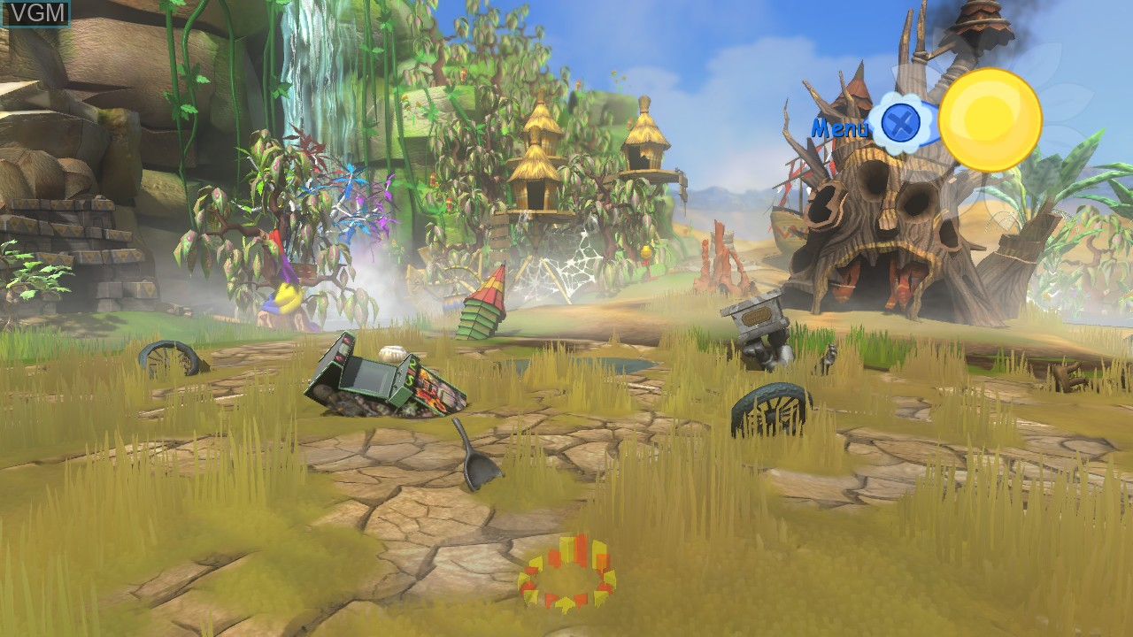 In-game screen of the game Viva Pinata on Microsoft Xbox 360