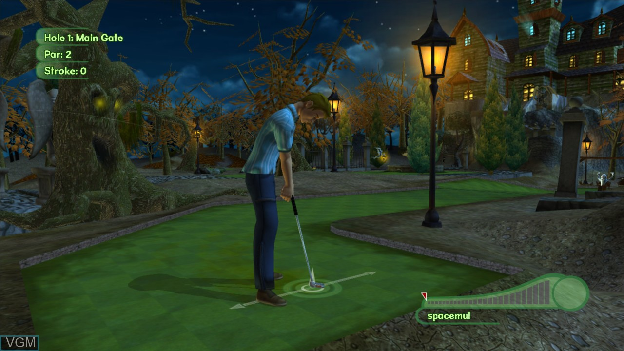 In-game screen of the game 3D Ultra MiniGolf Adventures 2 on Microsoft Xbox 360
