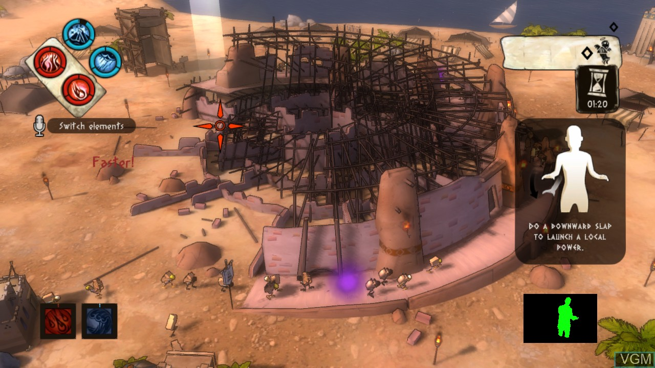 In-game screen of the game Babel Rising on Microsoft Xbox 360