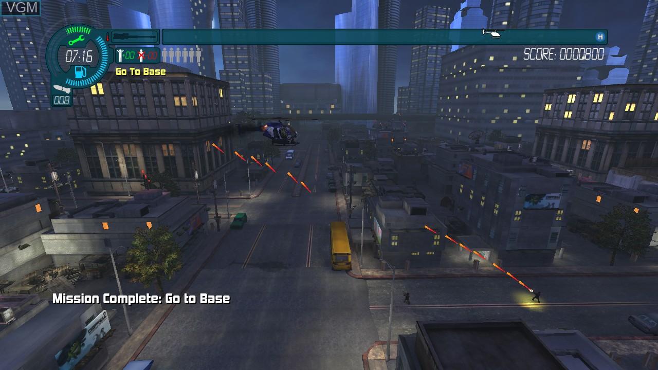 In-game screen of the game Choplifter HD on Microsoft Xbox 360