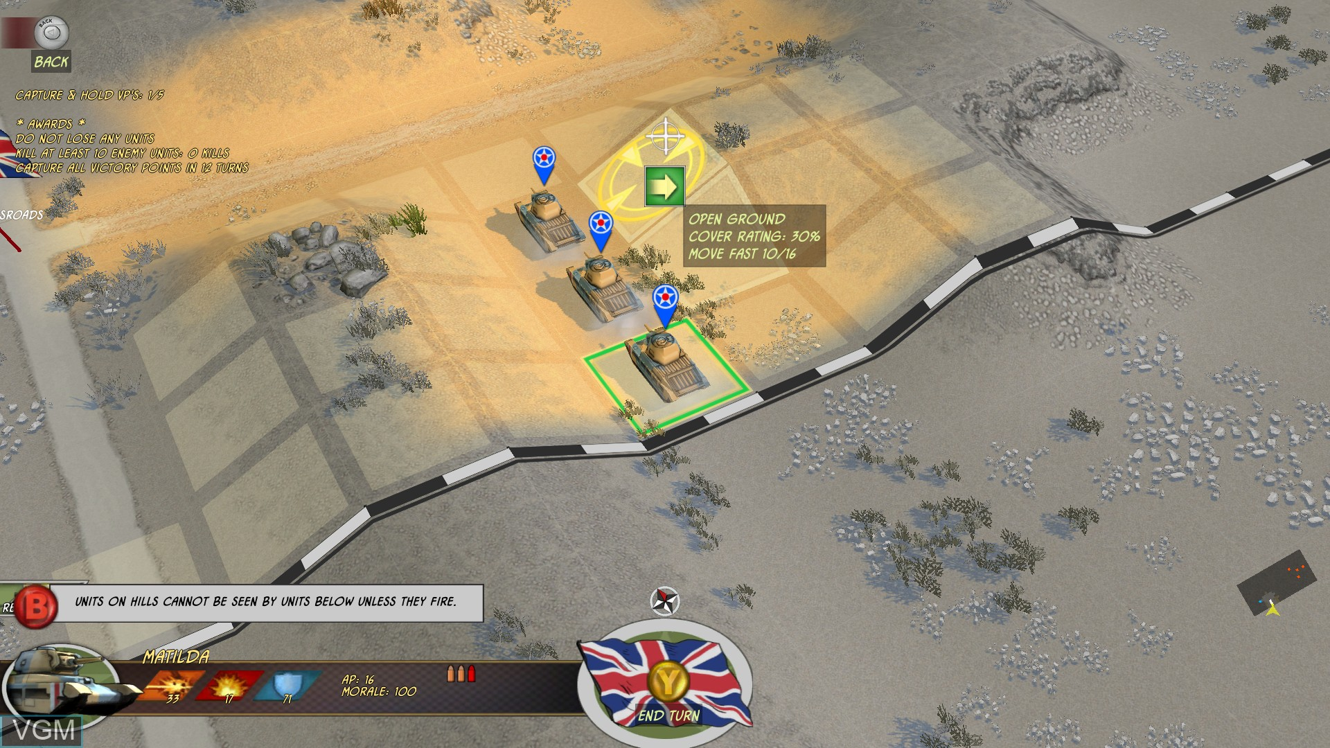 In-game screen of the game Battle Academy on Microsoft Xbox 360