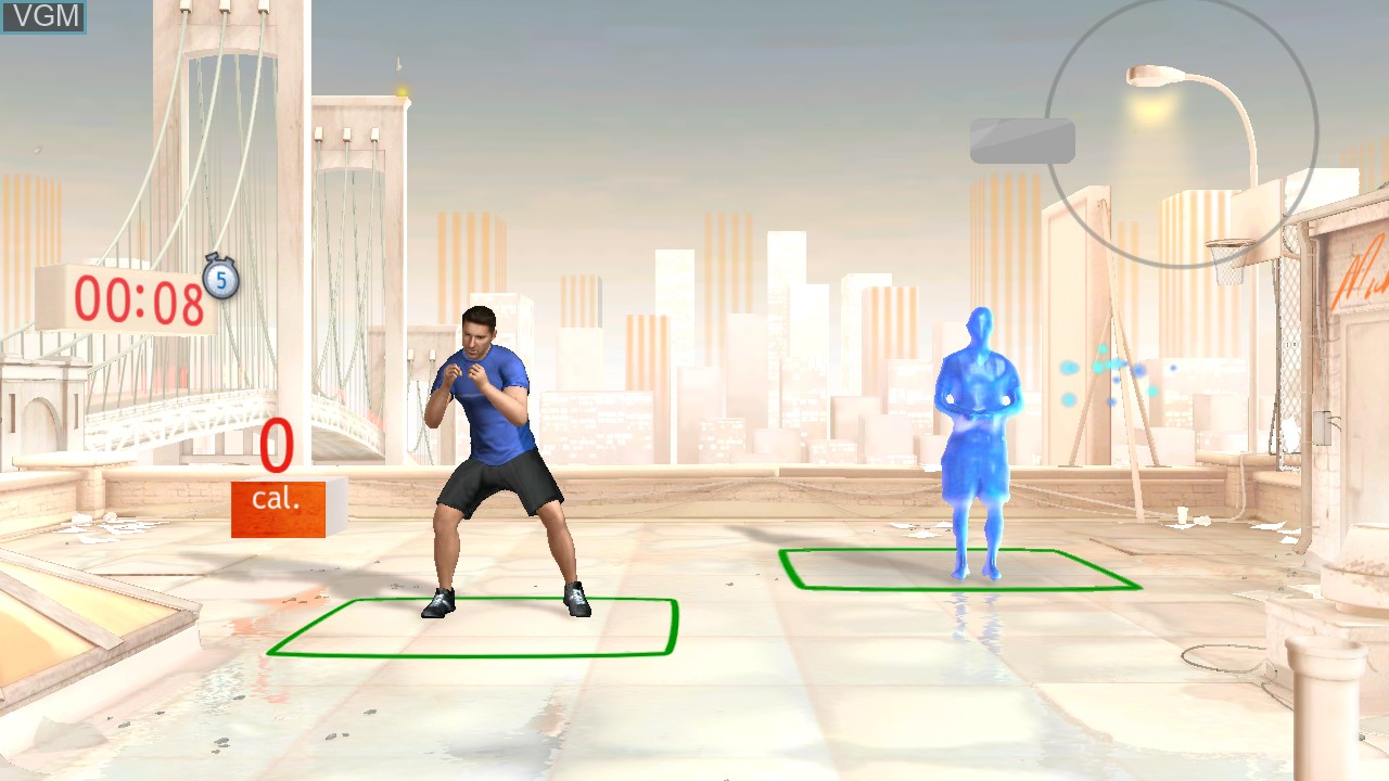 In-game screen of the game Your Shape - Fitness Evolved on Microsoft Xbox 360
