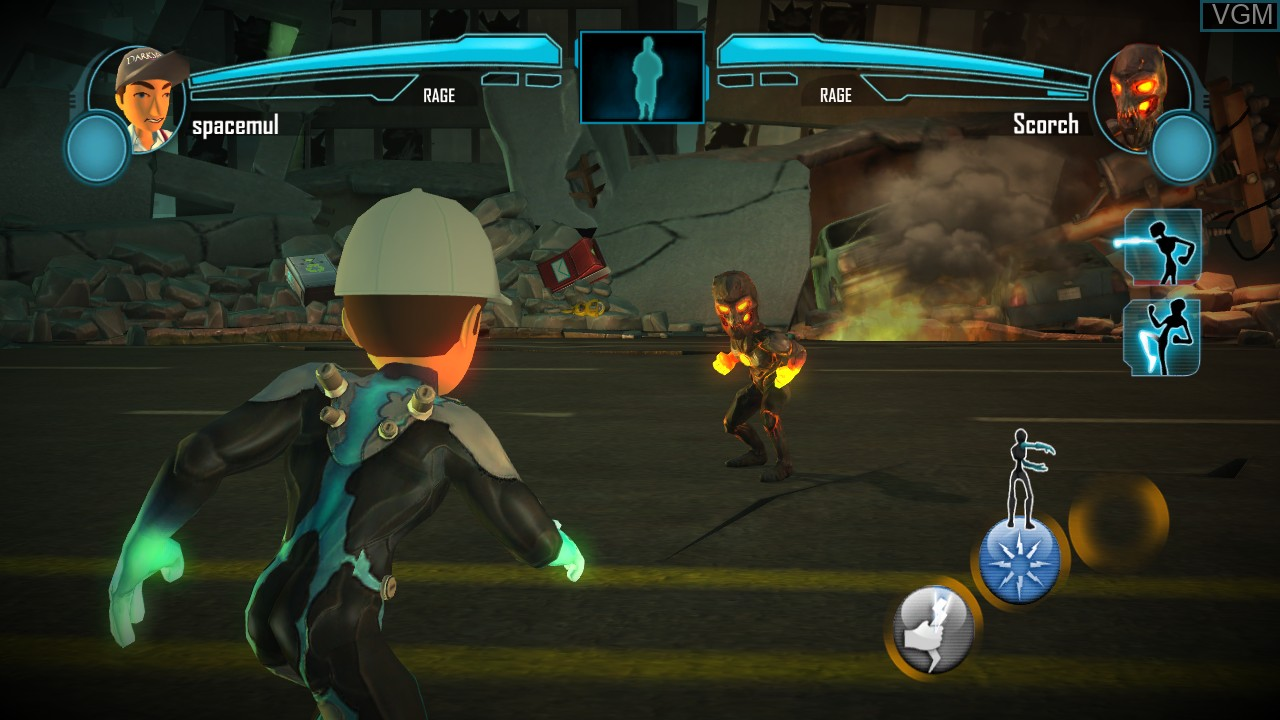 In-game screen of the game PowerUp Heroes on Microsoft Xbox 360