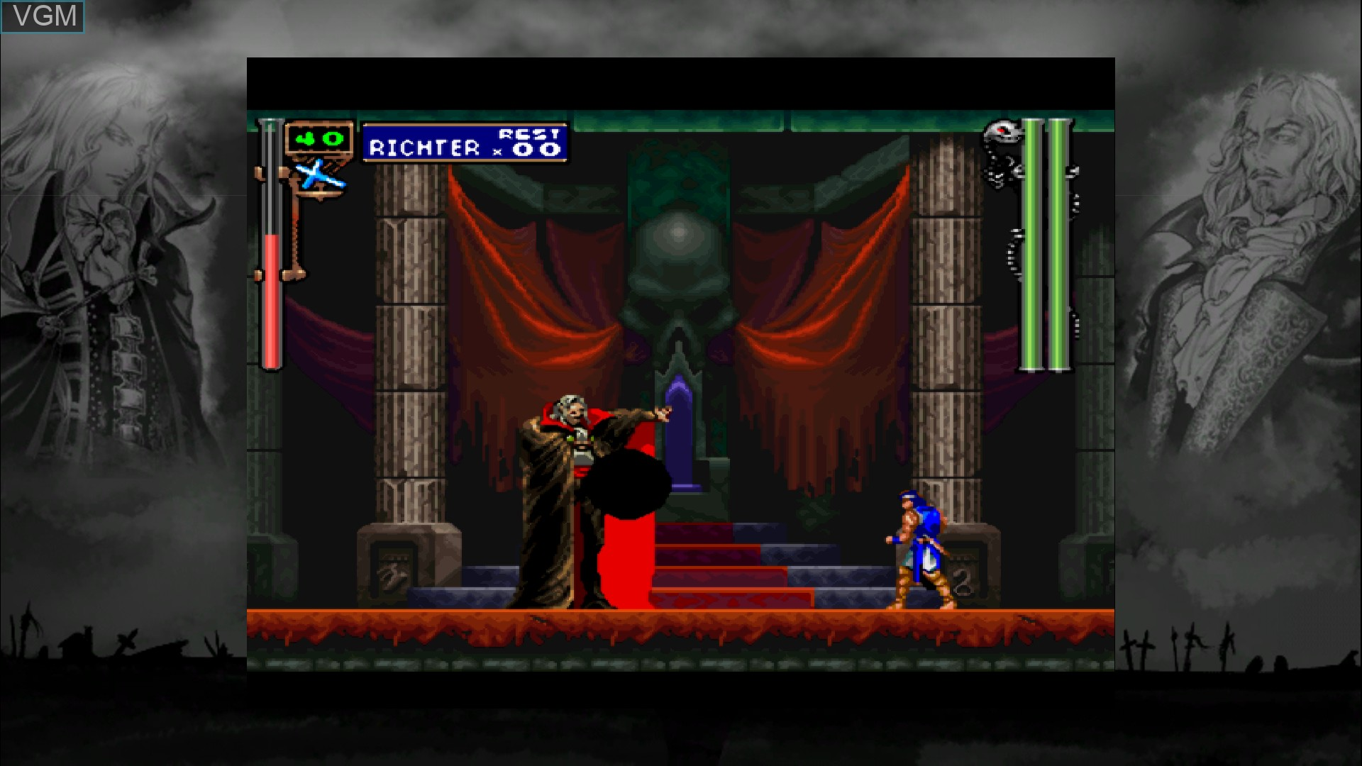 In-game screen of the game Castlevania - Symphony of the Night on Microsoft Xbox 360