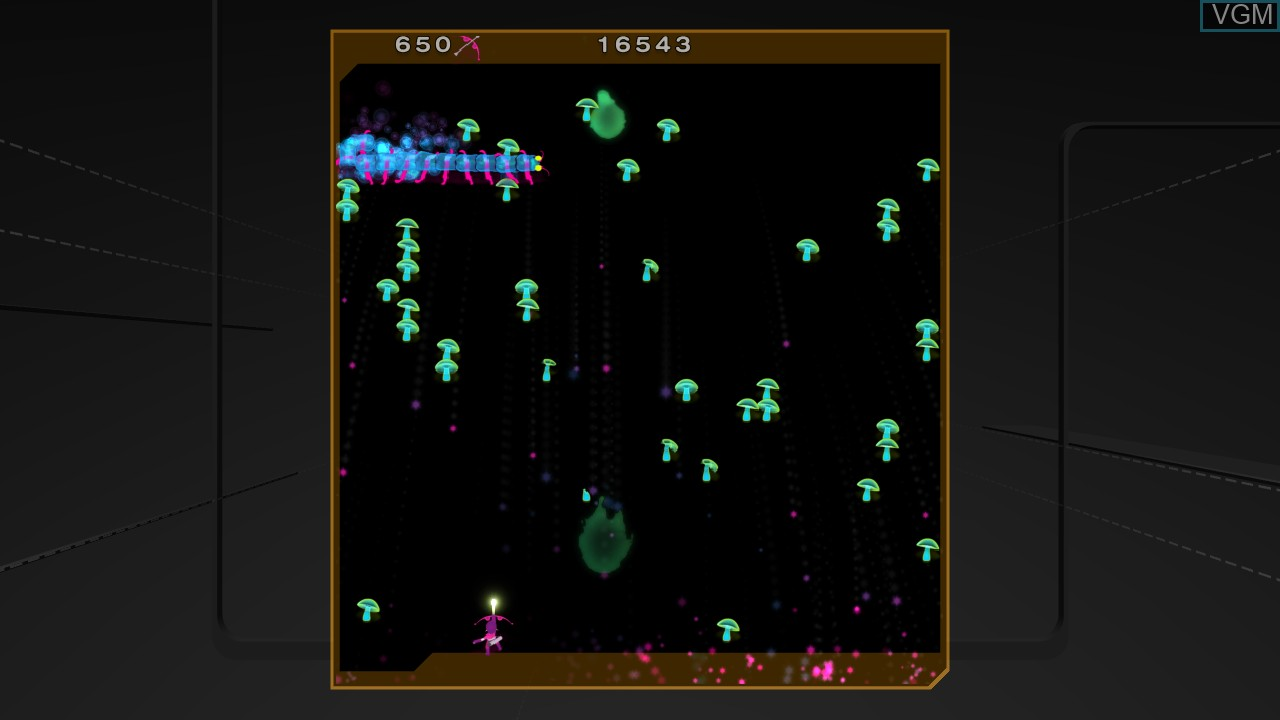 In-game screen of the game Centipede & Millipede on Microsoft Xbox 360