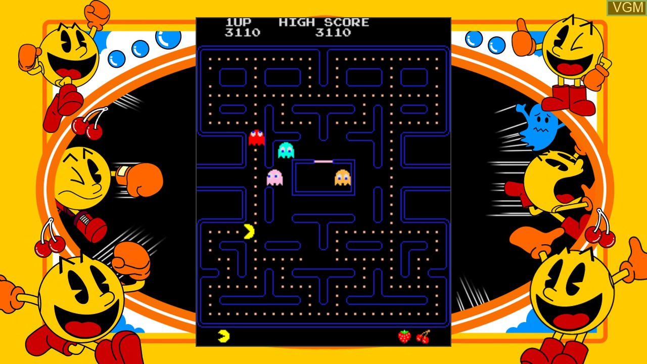 In-game screen of the game Pac-Man on Microsoft Xbox 360