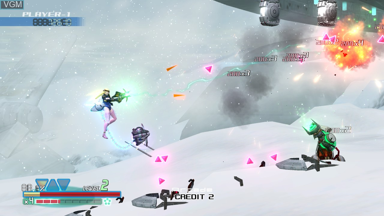 In-game screen of the game Omega Five on Microsoft Xbox 360