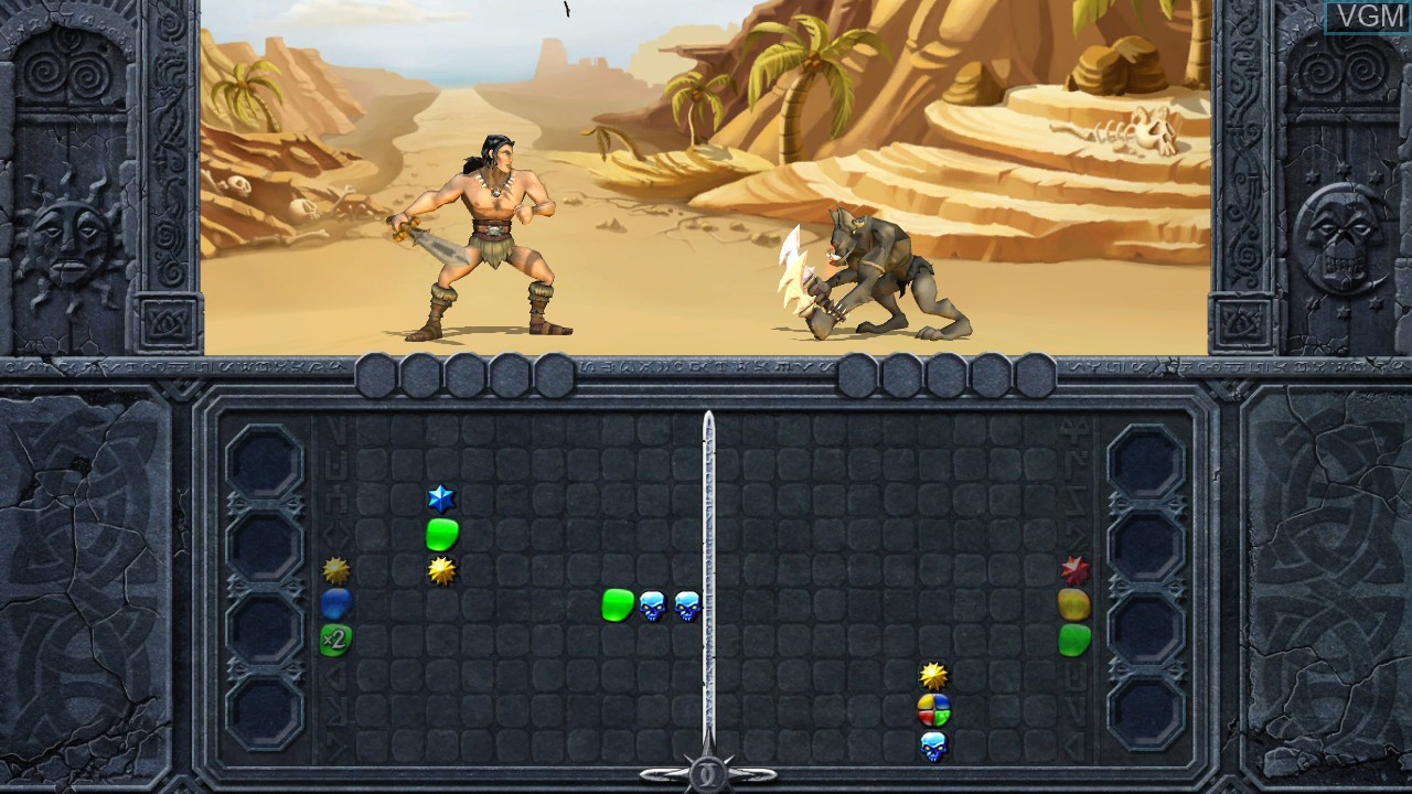 In-game screen of the game Puzzle Chronicles on Microsoft Xbox 360