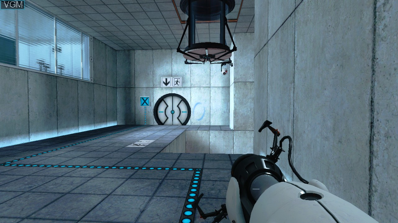 In-game screen of the game Portal - Still Alive on Microsoft Xbox 360