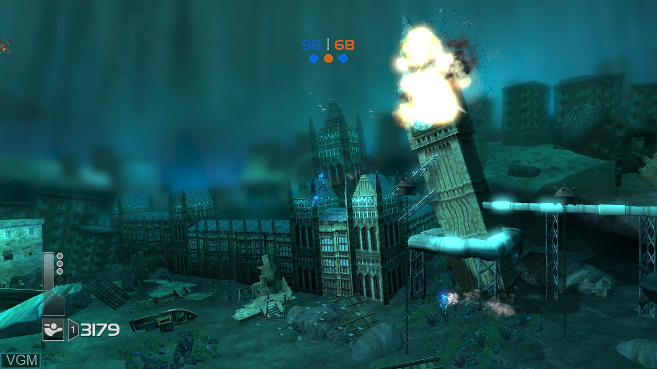In-game screen of the game Undertow on Microsoft Xbox 360