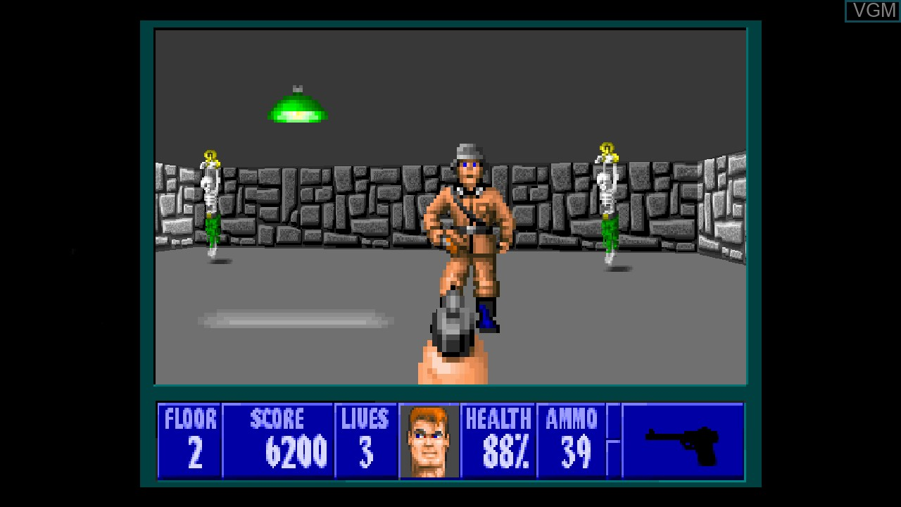 In-game screen of the game Wolfenstein 3D on Microsoft Xbox 360