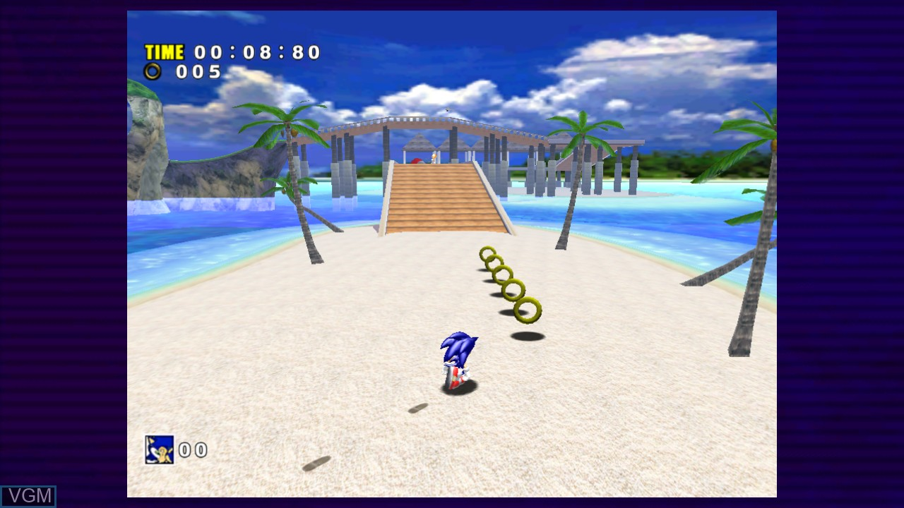 In-game screen of the game Sonic Adventure on Microsoft Xbox 360