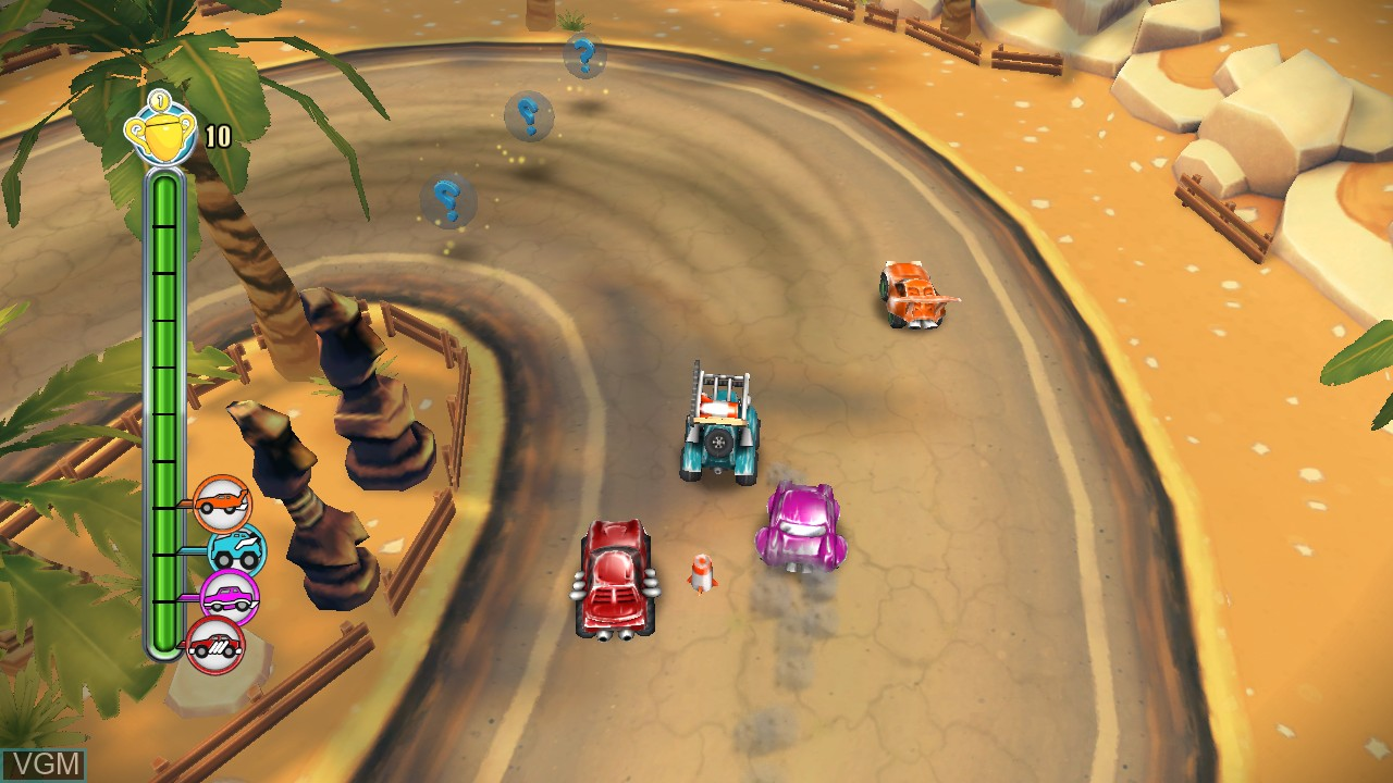 In-game screen of the game TNT Racers on Microsoft Xbox 360