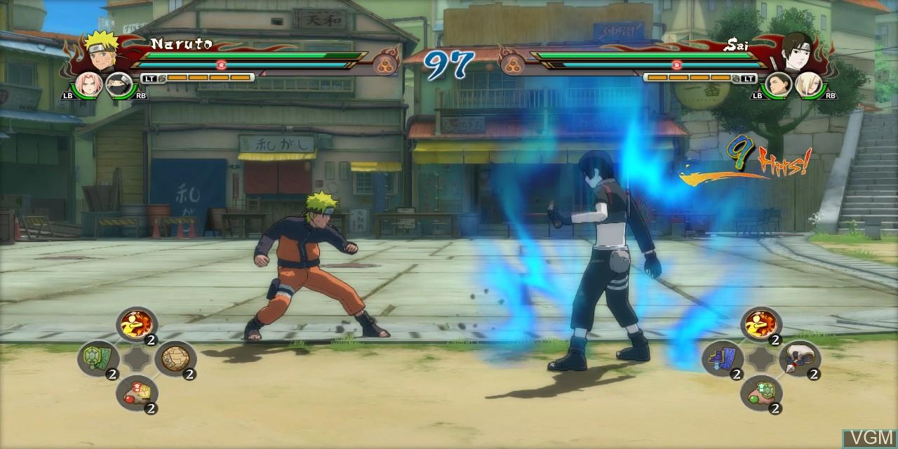 In-game screen of the game Naruto Shippuden - Ultimate Ninja Storm Revolution on Microsoft Xbox 360