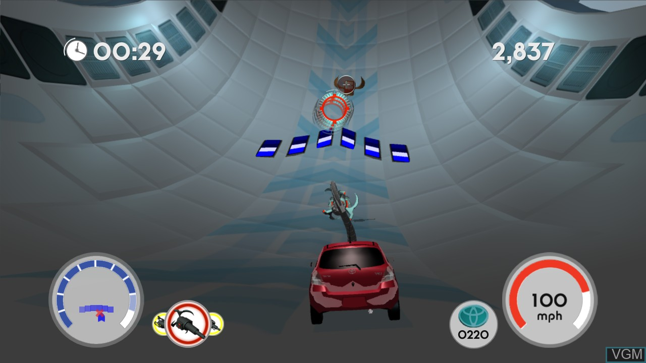 In-game screen of the game Yaris on Microsoft Xbox 360