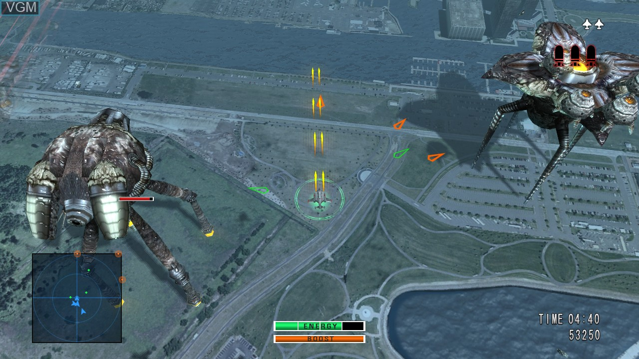 In-game screen of the game 0 Day Attack on Earth on Microsoft Xbox 360