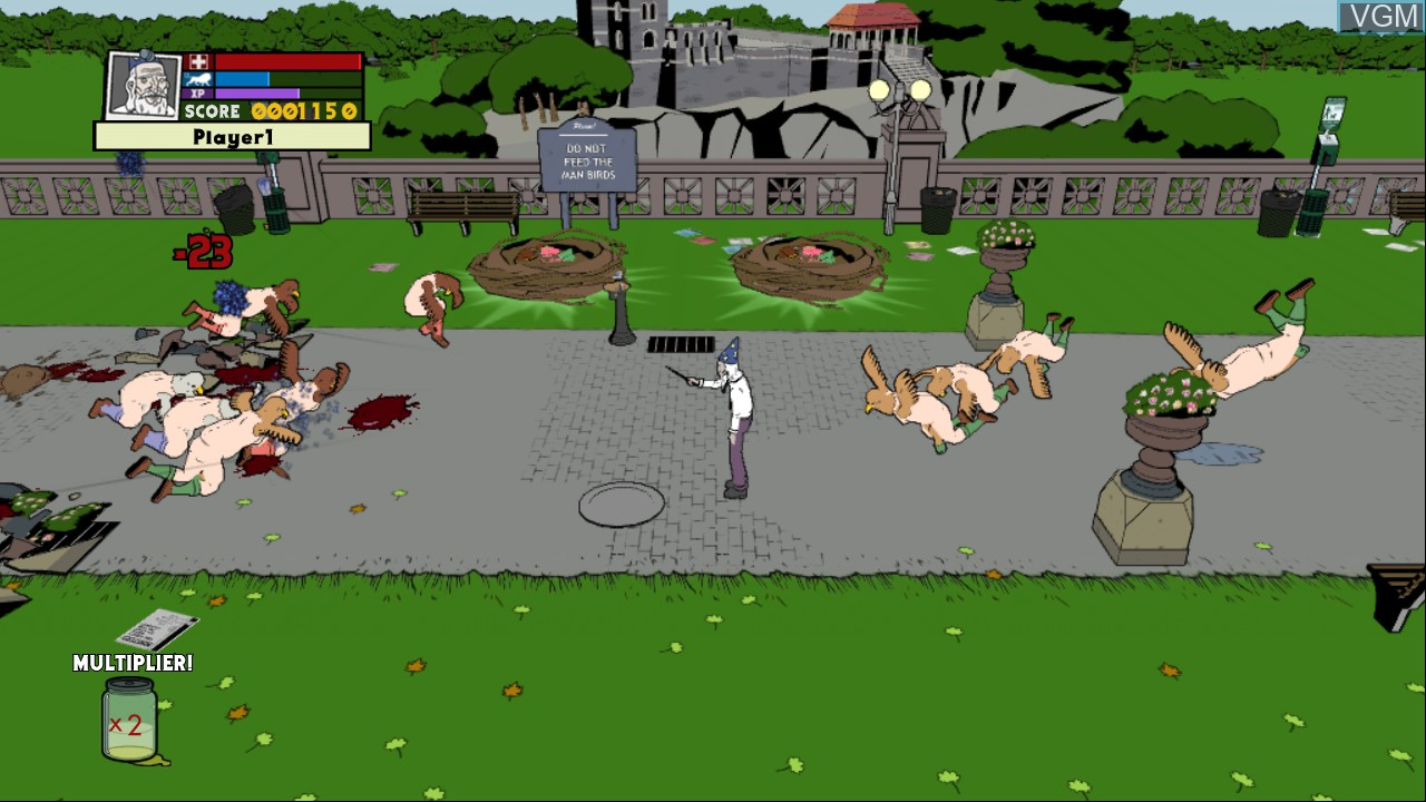 In-game screen of the game Ugly Americans - Apocalypsegeddon on Microsoft Xbox 360