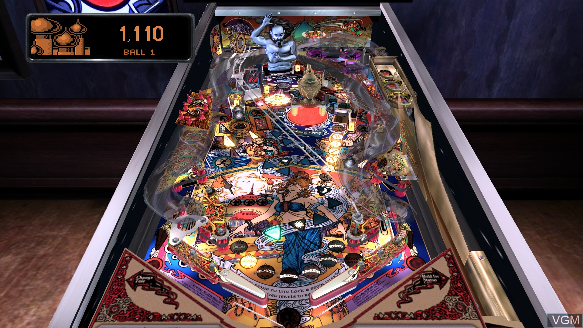 In-game screen of the game Pinball Arcade, The on Microsoft Xbox 360