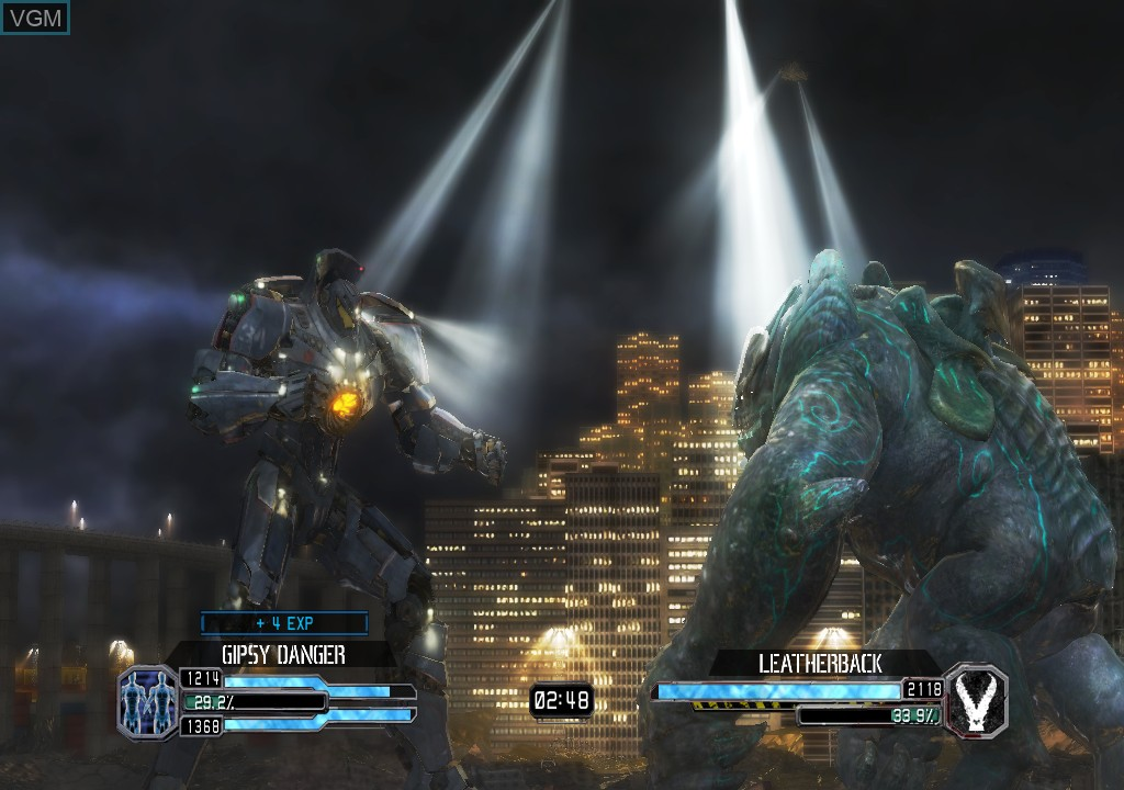 In-game screen of the game Pacific Rim on Microsoft Xbox 360