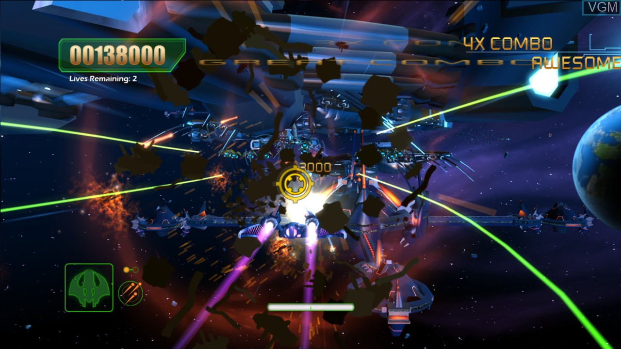 In-game screen of the game Aces of the Galaxy on Microsoft Xbox 360